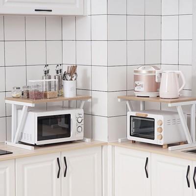 double layer microwave oven shelf multifunctional rack stand cabinet shelf storage organizer