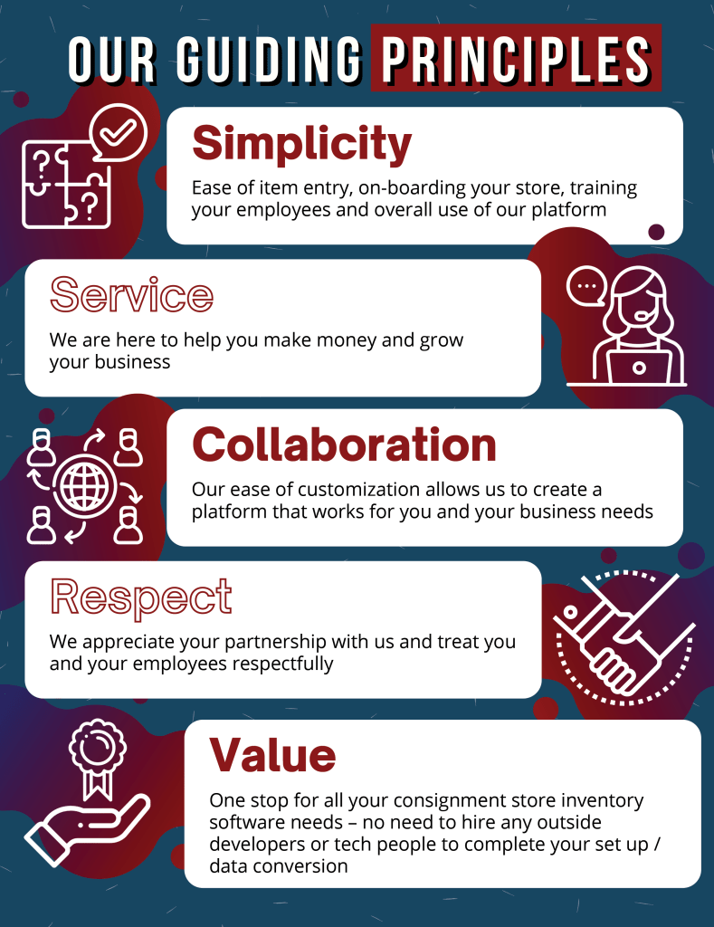 Our guiding principles are Simplicity, Service, Collaboration, Respect, and Value