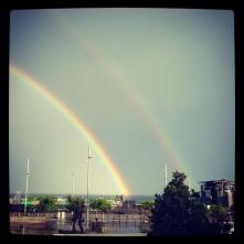 There was a rainbow each afternoon that I was in Barcelona