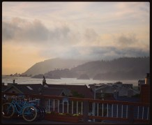 Bikes and rolling fog