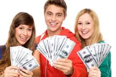 teens learning about money