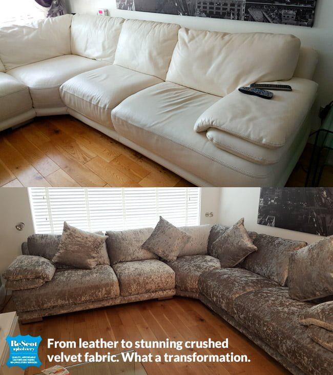 recover your sofa from leather to