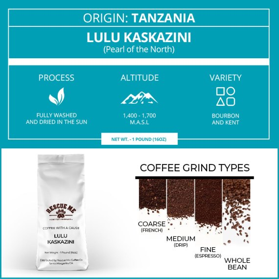 Tanzania Single Origin Rescue Me Coffee