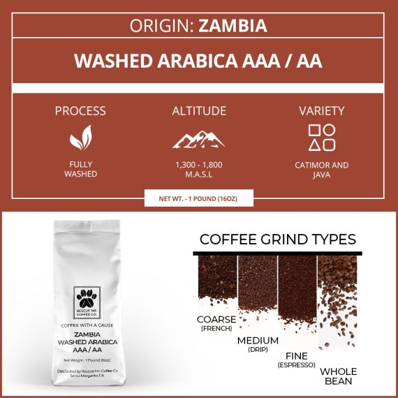 Zambia Single Origin Coffee of the Month