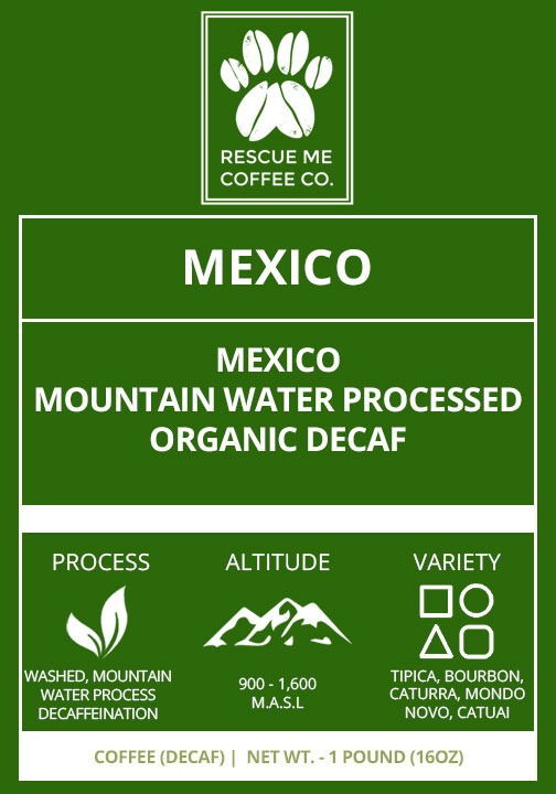 Organic Decaf Coffee - Rescue Me Coffee