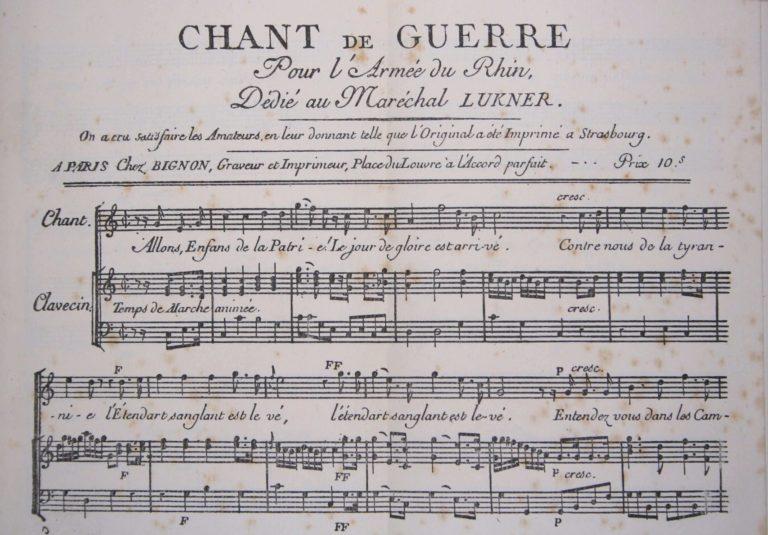 Marseillaise chant de guerre