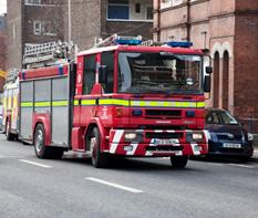 Véhicule incendie des pompiers irlandais