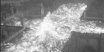 incendie cathédrale de Nantes - 1972
