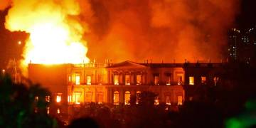 Incendie musée du Brésil