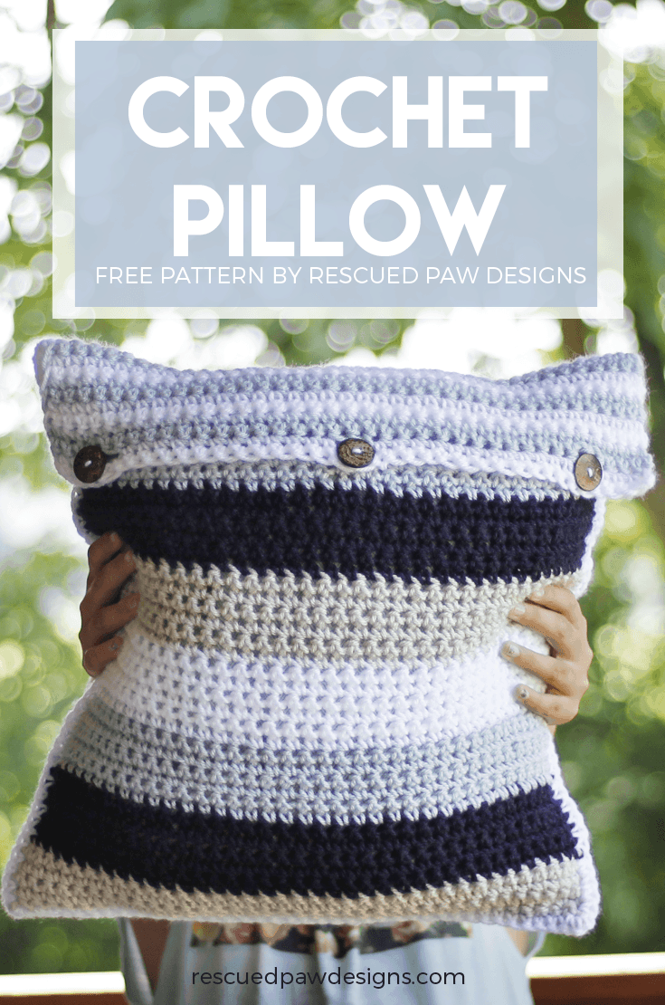 Striped Crochet Pillow Cover Free Crochet Pillow Pattern