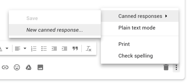 How to make canned responses in Gmail