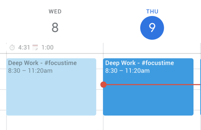 How to dim past events in Google Calendar