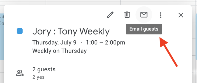 How to email all attendees from Google Calendar