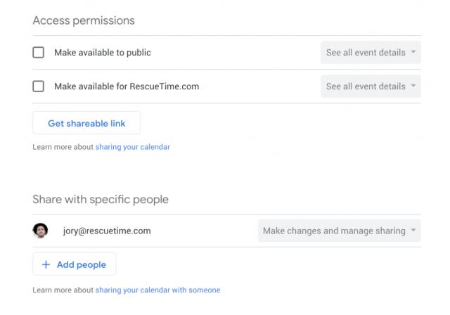 How to share calendars in Google Calendar