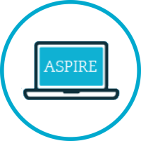 ASPIRE Graphic - Laptopn surrounded by a circle
