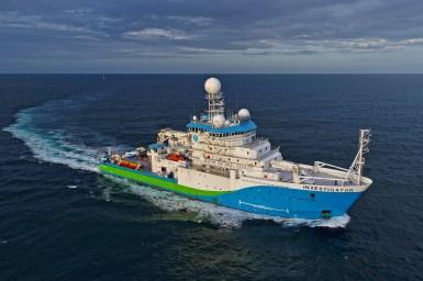 Australia's Marine National Facility research vessel Investigator