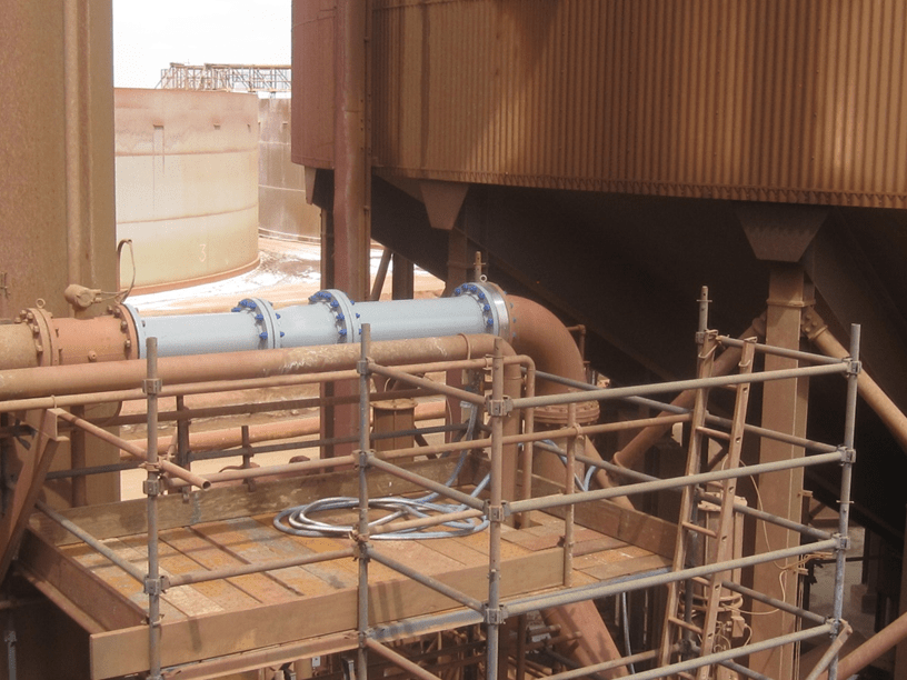 Pipeline in a mineral processing plant