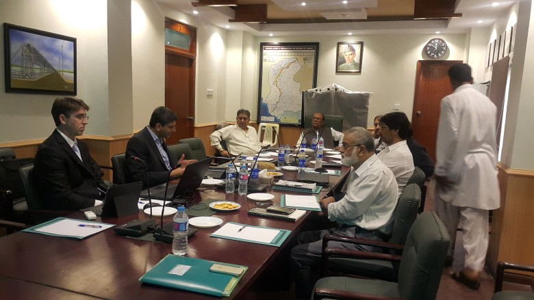 Members of the CSIRO team meet with collaborators in Pakistan