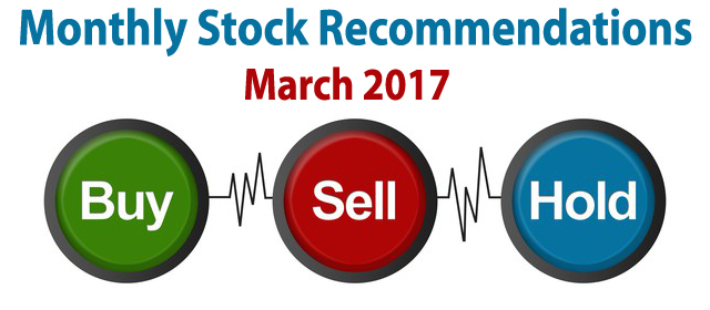 Monthly Stock Picks Recommendation March 2017