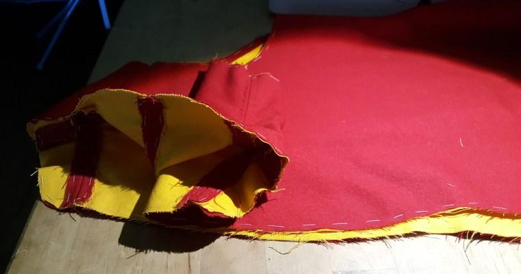 Red Wool Flemish Jacket