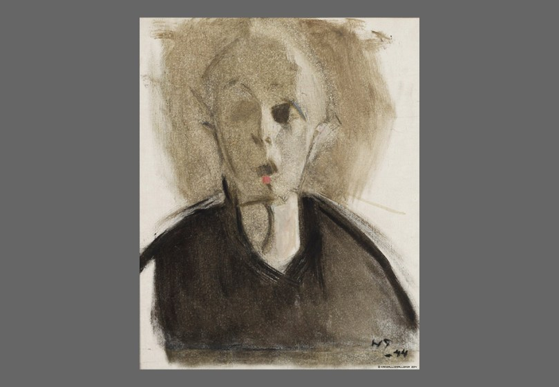 Helene Schjerfbeck, Self-Portrait with Red Spot, 1944. Ateneum Art Museum. Photo: Finnish National Gallery / Henri Tuomi.