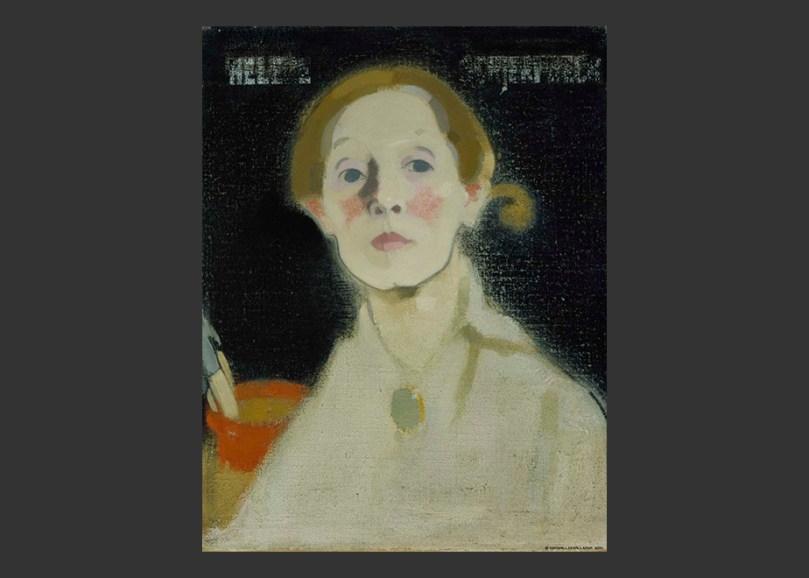 Helene Schjerfbeck, Self-Portrait, Black Background, 1915. Ateneum Art Museum. Photo: Finnish National Gallery / Hannu Aaltonen.