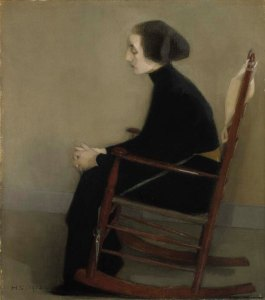 Schjerfbeck, Helene. The Seamstress (The Working Woman). 1905. Photo: Finnish National Gallery / Hannu Aaltonen.