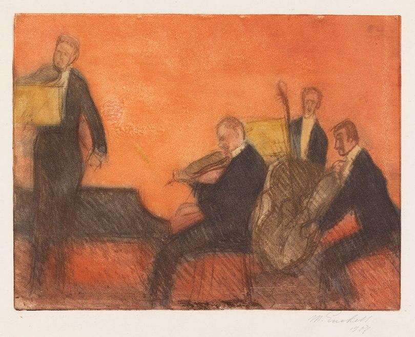 Magnus Enckell, Music, 1906, soft-ground etching, 33 x 42,5 cm Finnish National Gallery / Ateneum Art Museum Photo: Finnish National Gallery / Yehia Eweis