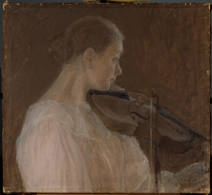 Ellen Thesleff, Violin Player, 1896, oil on canvas, 40 x 44 cm Ahlström Collection, Finnish National Gallery / Ateneum Art Museum Photo: Finnish National Gallery / Jukka Romu