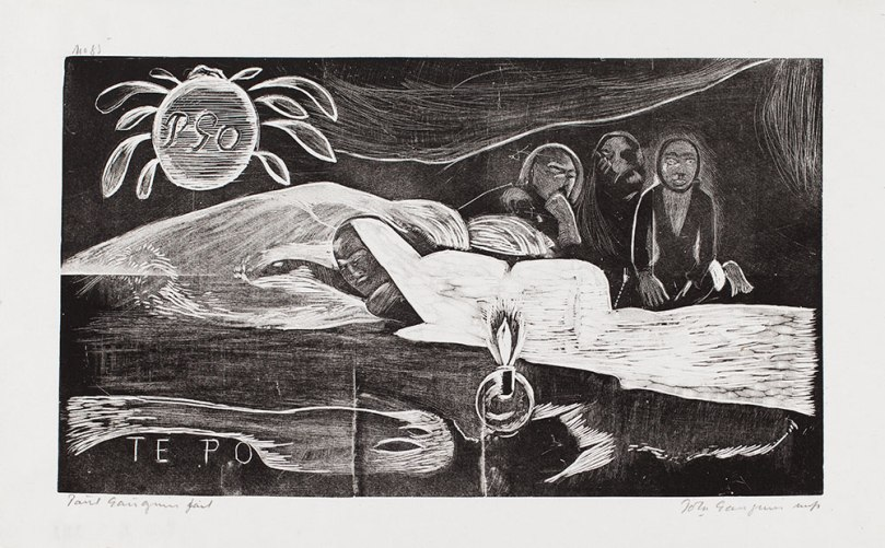 Paul Gauguin, printer Pola Gauguin, Te po (Night Eternal), 1893–94 (printed 1921) woodcut, 20.5 x 25.5cm Ahlström collection, Finnish National Gallery / Ateneum Art Museum Photo: Finnish National Gallery / Jenni Nurminen
