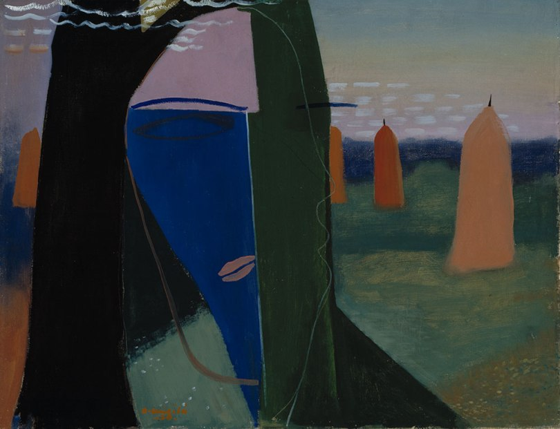 Otto Mäkilä, Summer Night, 1938, oil on canvas, 70cm x 90cm, Herman and Elisabeth Hallonblad Collection, Finnish National Gallery / Ateneum Art Museum Photo: Finnish National Gallery / Antti Kuivalainen