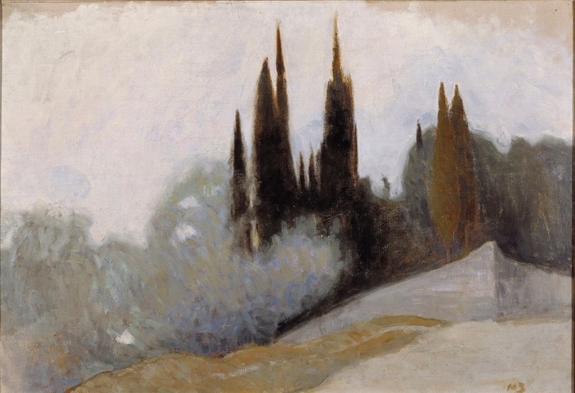 Featured image: Helene Schjerfbeck, Cypresses, Fiesole, 1894, oil on canvas, 43.5cm x 62.5cm, Finnish National Gallery / Ateneum Art Museum Photo: Finnish National Gallery / Hannu Aaltonen