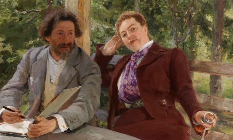 Ilya Repin, Double Portrait of Natalia Nordmann and Ilya Repin, 1903, oil on canvas, 78.5cm x 130cm. Finnish National Gallery / Ateneum Art Museum Photo: Finnish National Gallery / Jenny Nurminen