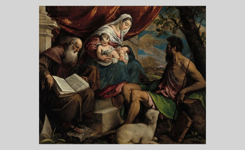 Jacopo Bassano, Virgin and Child with John the Baptist and St Anthony the Abbot, c. 1560–65, oil on canvas, 108cm x 130cm Ester and Jalo Sihtola Fine Arts Foundation Donation, Finnish National Gallery / Sinebrychoff Art Museum Photo: Finnish National Gallery / Matti Janas