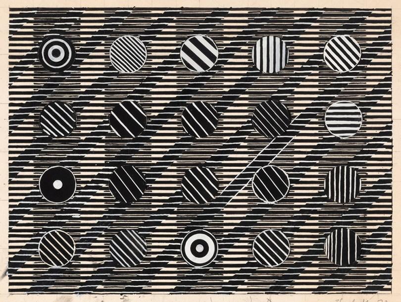 Juhana Blomstedt, sketch from Minneapolis series, 1972, gouache on paper, 33,5cm x 44,3cm (leaf). Finnish National Gallery /Ateneum Art Museum Photo: Finnish National Gallery / Pirje Mykkänen