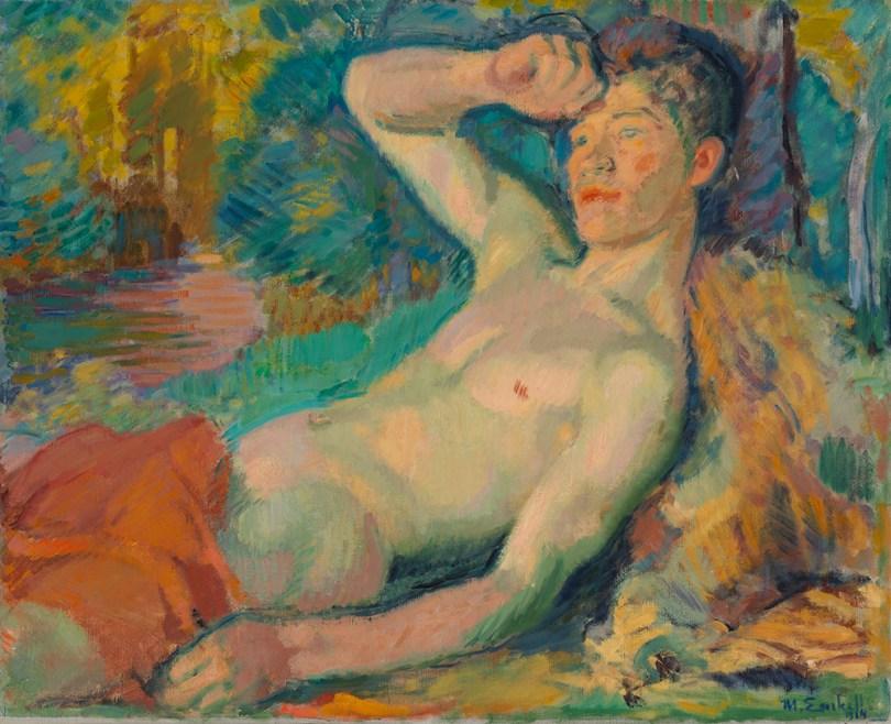 Magnus Enckell, Awakening Faun, 1914, oil on canvas, 65.5cm x 81cm Hoving Collection, Finnish National Gallery / Ateneum Art Museum Photo: Finnish National Gallery / Jenni Nurminen
