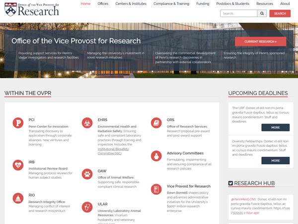 Centers And Institutes Office Of The Vice Provost For Research Upenn