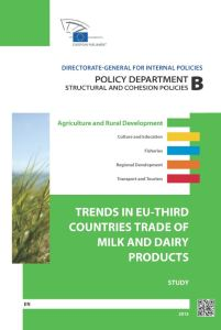 Trends in EU-Third Countries Trade of Milk and Dairy Products