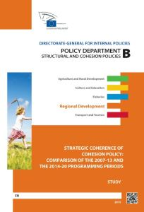 Strategic Coherence of Cohesion Policy: Comparison of the 2007-13 and the 2014-20 Programming Periods