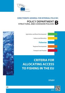 Criteria for Allocating Access to Fishing in the EU