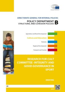 Integrity and Good Governance in Sport