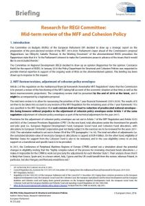 Mid-Term Review of the MFF and Cohesion Policy