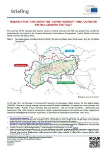 Alpine Transport and Tourism in Austria, Germany and Italy