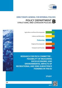 Feasibility of Measuring Socio-Economic and Environmental Impacts of Recreational and Semi-Subsistence Fisheries in the EU