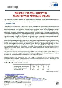 Transport and Tourism in Croatia