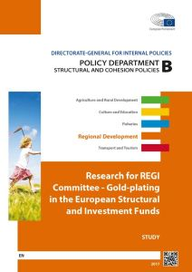 Gold-Plating in the European Structural and Investment Funds