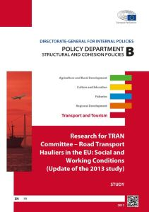 Road Transport Hauliers in the EU: Social and Working Conditions (Update of the 2013 study)