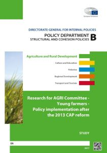 Young farmers - Policy implementation after the 2013 CAP reform