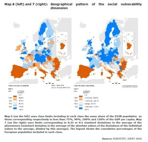 MAP 6 AND 7 Geographical pattern of the social vulnerability dimension