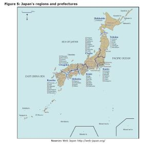 Figure 5: Japan's regions and prefectures